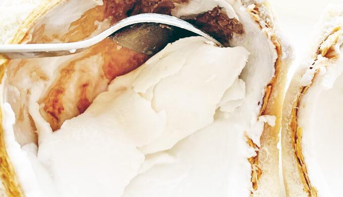 ココナッツ 固形胚乳 とり方